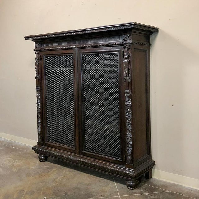 Late 19th Century 19th Century Italian Neoclassical Walnut Barrister's Bookcase For Sale - Image 5 of 12