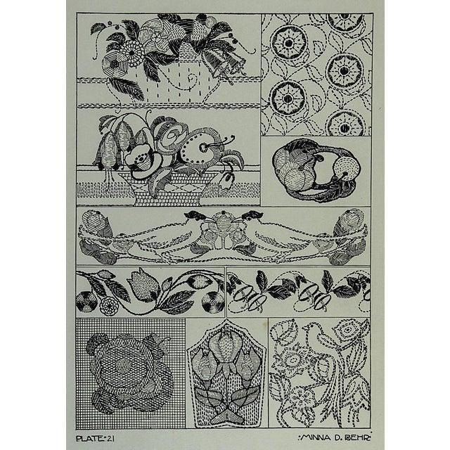 Circa 1920 Textile Design Lithograph For Sale