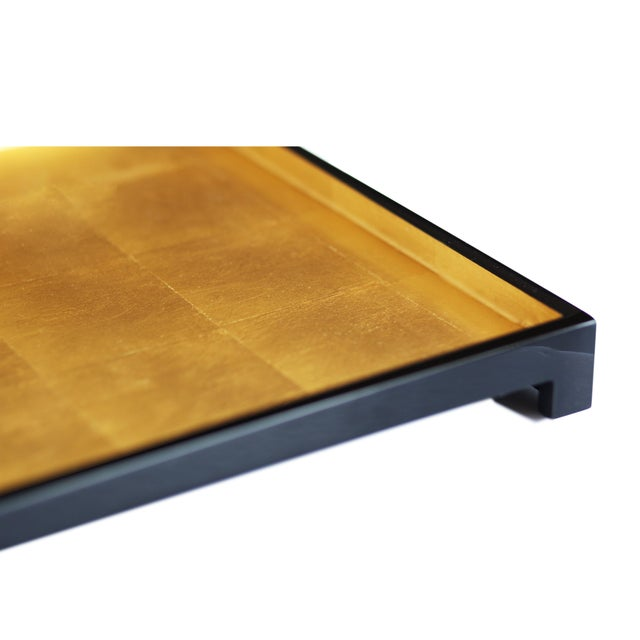The range of POSH Gold Leaf trays have been designed by Sarah, with functionality and style in mind. Our master craftsmen...