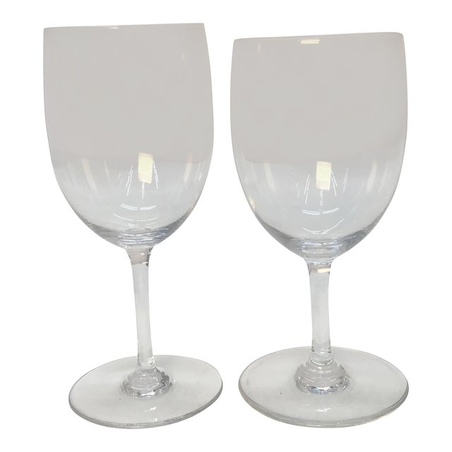 Baccarat France Crystal Wine Glasses - a Pair For Sale