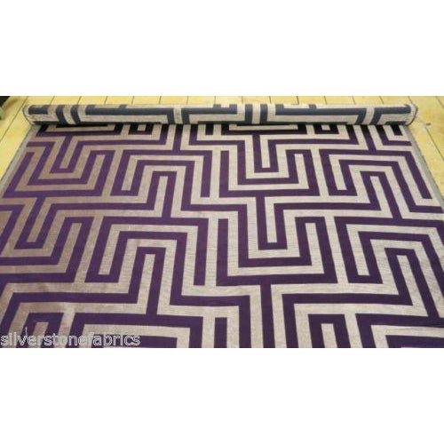 Beacon Hill Geometric Olympus in Purple & Silver - 2.25 Yards - Image 4 of 5