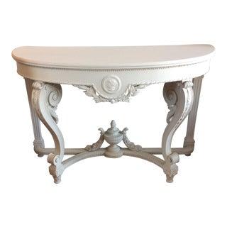 19th Century Swedish Demi-Lune Table For Sale