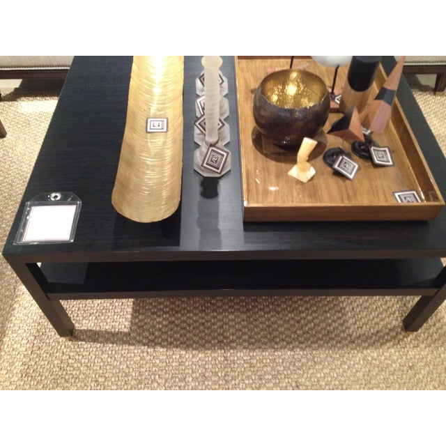 "Modern Black ""Morris"" Coffee Table - Image 5 of 7"