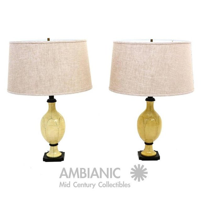 1950s Pair of Christian Fersen Table Lamps For Sale - Image 5 of 8