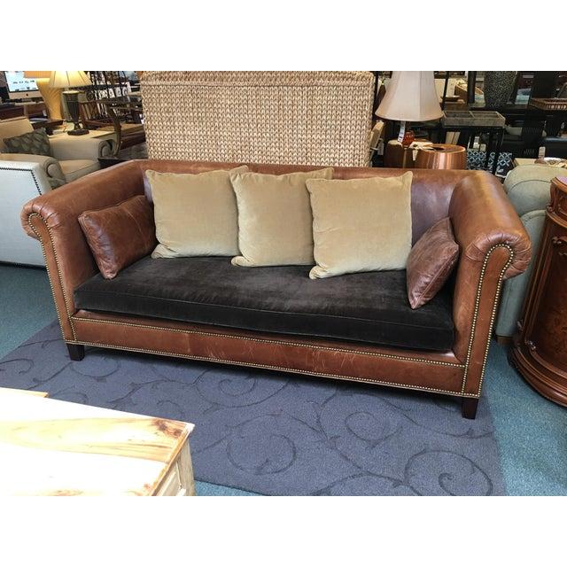 Ralph Lauren Brompton Leather Sofa - Image 2 of 9