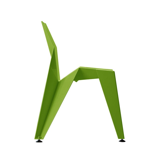 Green Origami Inspired Edge Green Chair | Indoor & Outdoor Chair For Sale - Image 8 of 9