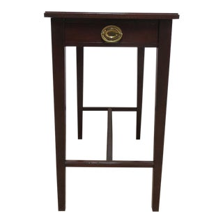 Antique Mahogany One Drawer Planter End Table