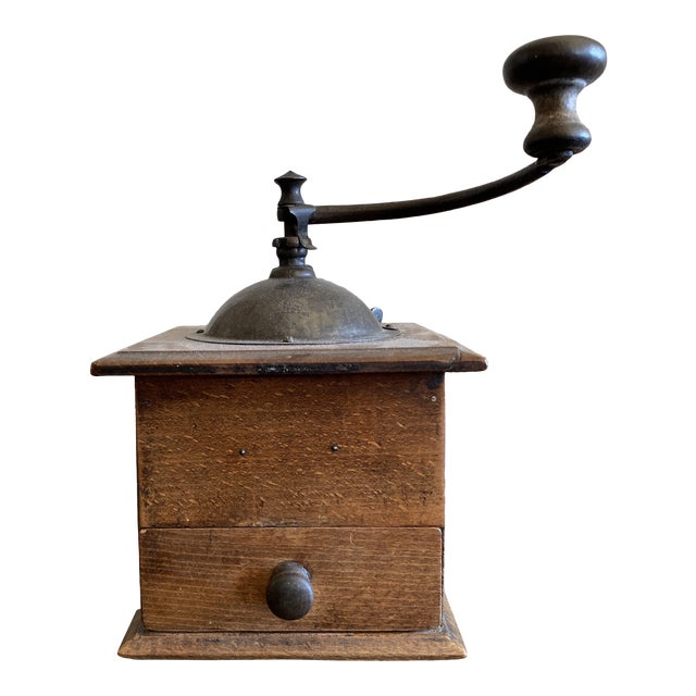 Antique French Coffee Grinder Made by Peugeot For Sale