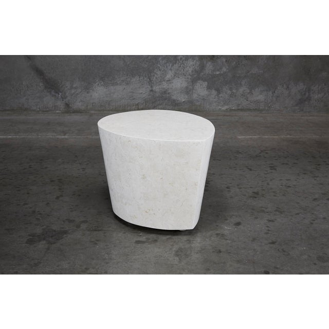 """1990s Contemporary White Freeform Tessellated Stone """"Hampton"""" Side Table For Sale - Image 13 of 13"""