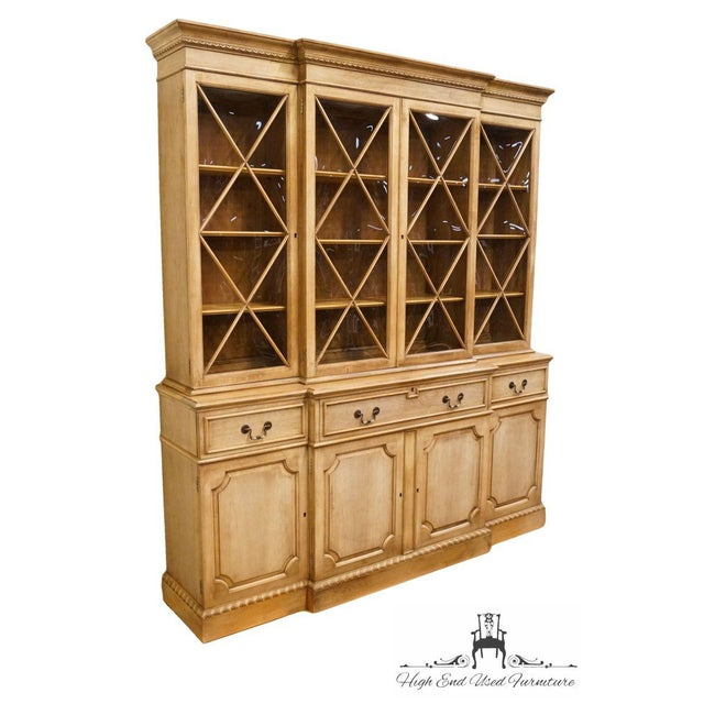 """French Saginaw Furniture Country French Regency 72"""" Secretary Display China Cabinet For Sale - Image 3 of 13"""