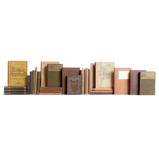 Vintage Tan & Brown Mini Books - Set of 30 - Image 1 of 3