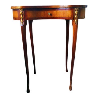 Antique Marquetry Side Table For Sale