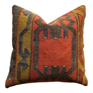 1990s Vintage Decorative Kilim Pillow For Sale
