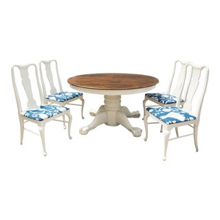 Claw Foot Oak Dining Set For Sale