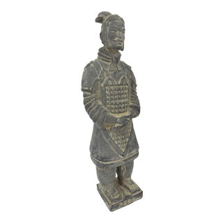 Vintage Chinese Terracotta Warrior Figure (X'ian), Boxed Statue For Sale