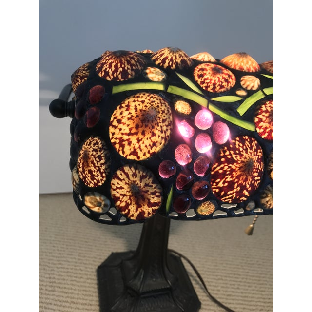Vintage Stained Glass Desk Lamp For Sale - Image 4 of 5