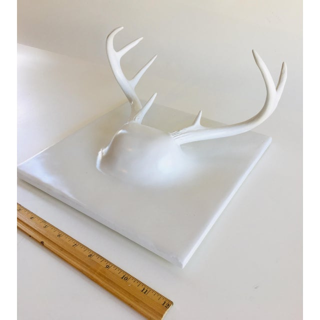 Ghost Antler coat rack or wall art piece by Seattle artist/designer Erich Ginder. This is a hand made cast resin piece...