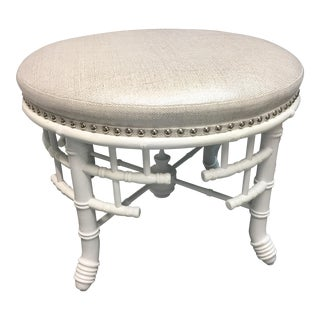 Modern Century Furniture Round Stool For Sale