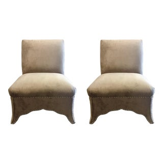 Caracole Lady Slipper Chairs Pair For Sale