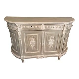 Antique Louis XVI Hand Painted French Buffet For Sale