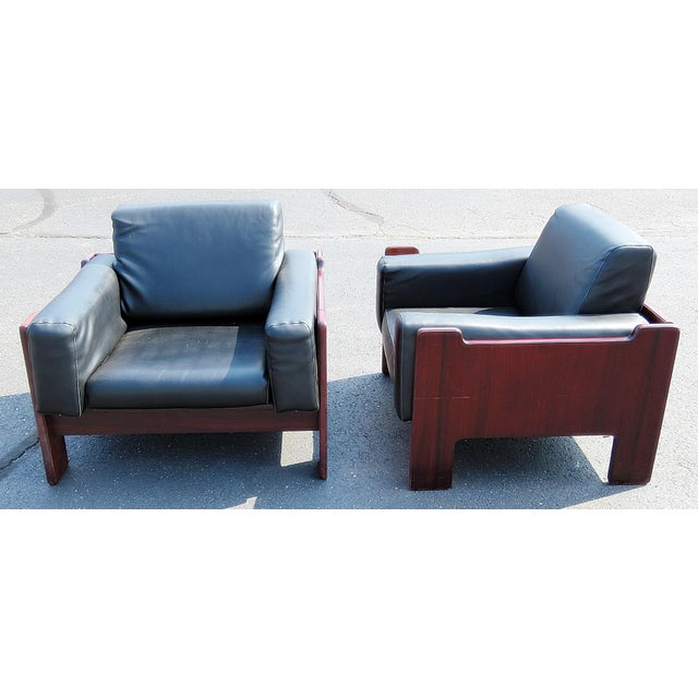 Mid-Century Modern Pair of Mid Century Modern Club Chairs For Sale - Image 3 of 12