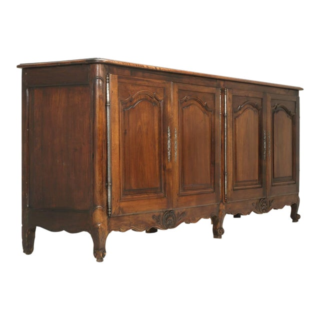 """Antique French """"très Grand"""" Buffet in Walnut For Sale"""