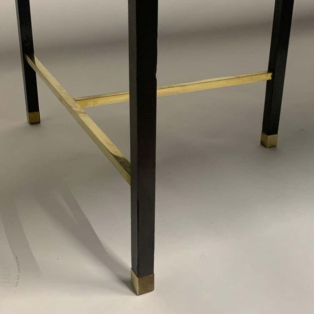 Harvey Probber Sculptural Floating Dining Table in Rosewood, Brass and Mahogany For Sale - Image 12 of 13