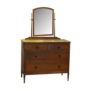 20th Century Traditional Metal Dresser With Wood Veneer For Sale