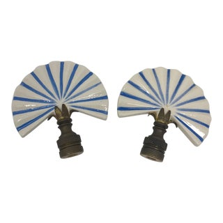 1990s Ceramic Finials - a Pair For Sale