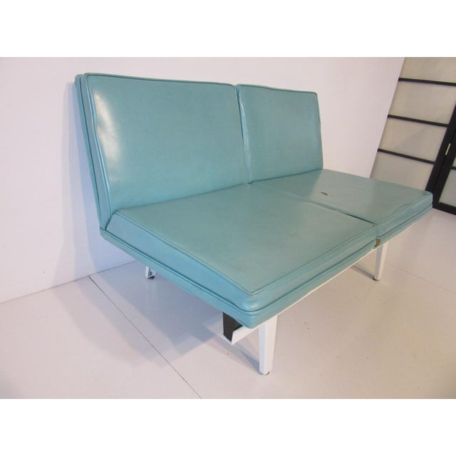 Mid-Century Modern George Nelson Steelframe Sofa / Loveseat by Herman Miller For Sale - Image 3 of 9
