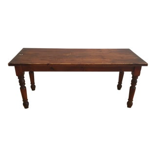 Early 20th Century Vintage Wood School Table For Sale