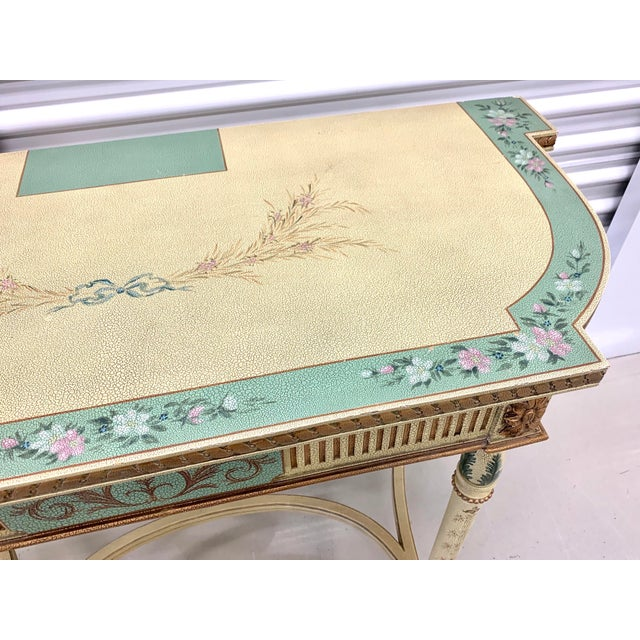 French Country Hand Painted Maitland Smith Console Table For Sale - Image 10 of 11