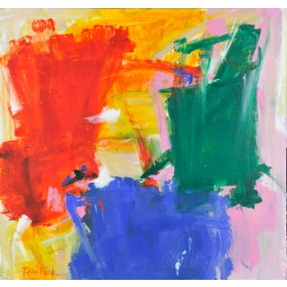 Robbie Kemper Color Blocks Abstract Expressionist Painting For Sale