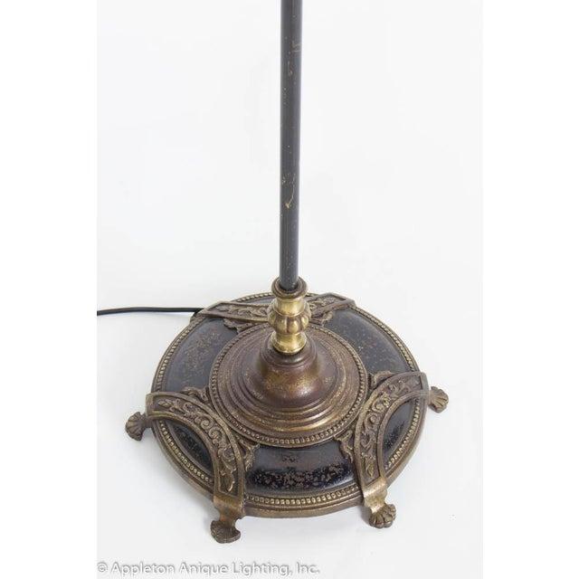 Black Elegant Restored Vintage Black and Gold Three Light Floor Lamp For Sale - Image 8 of 10