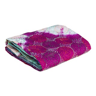 Cyra Silk Kantha Scarf For Sale