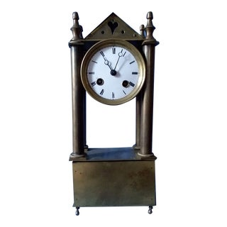 Japy Freres French Empire Portico Clock For Sale