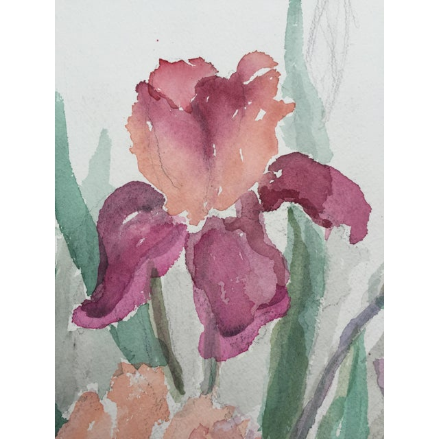 Vintage Watercolor of Flowers by Mary Chott - Image 4 of 5