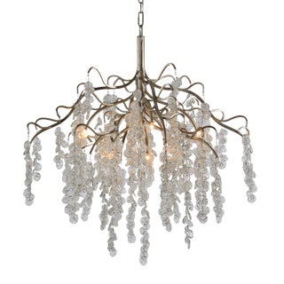 Cascading Glass Chandelier For Sale