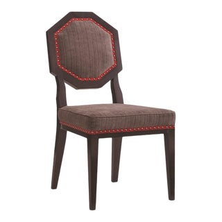 Mary McDonald for Chaddock Chantal Side Chair Brown For Sale