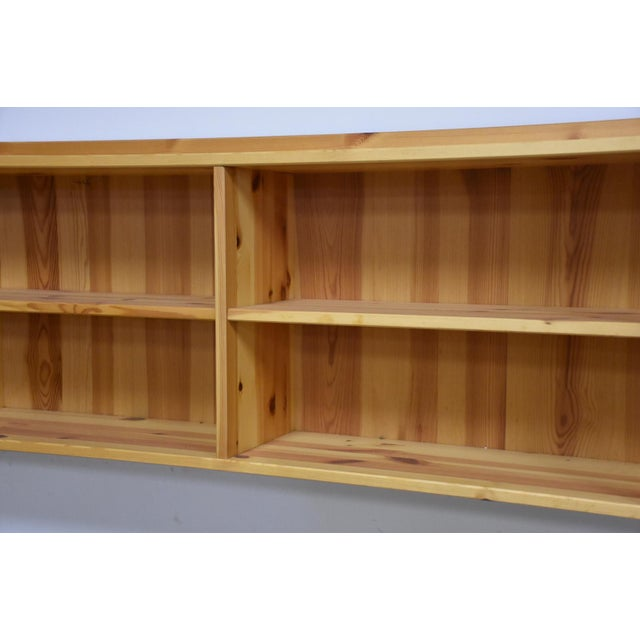 Idé Møbler Solid Pine Hanging Bookshelf Cabinet Mid Century Modern For Sale In Boston - Image 6 of 8