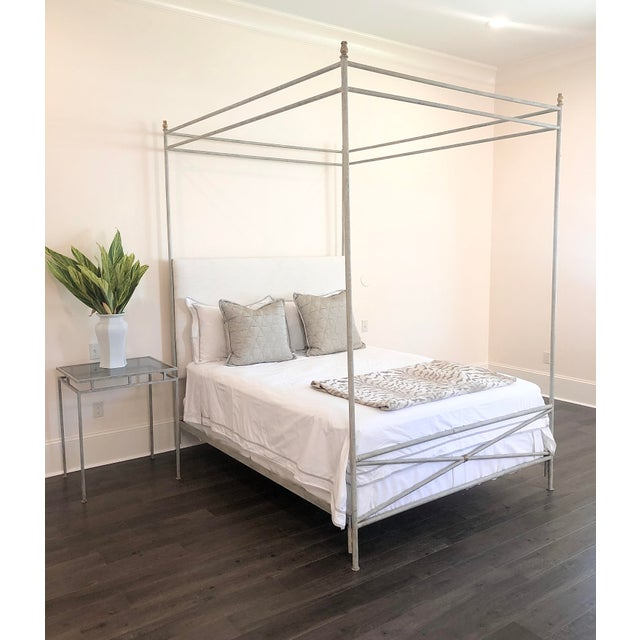 Orleans Upholstered Canopy Queen Size Bed For Sale In New Orleans - Image 6 of 7