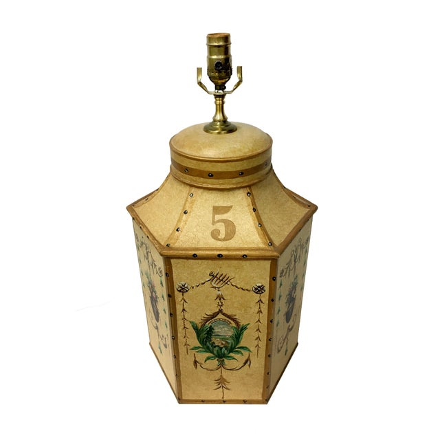 Vintage Chinese Export English Tea Caddy Lamps For Sale - Image 9 of 13