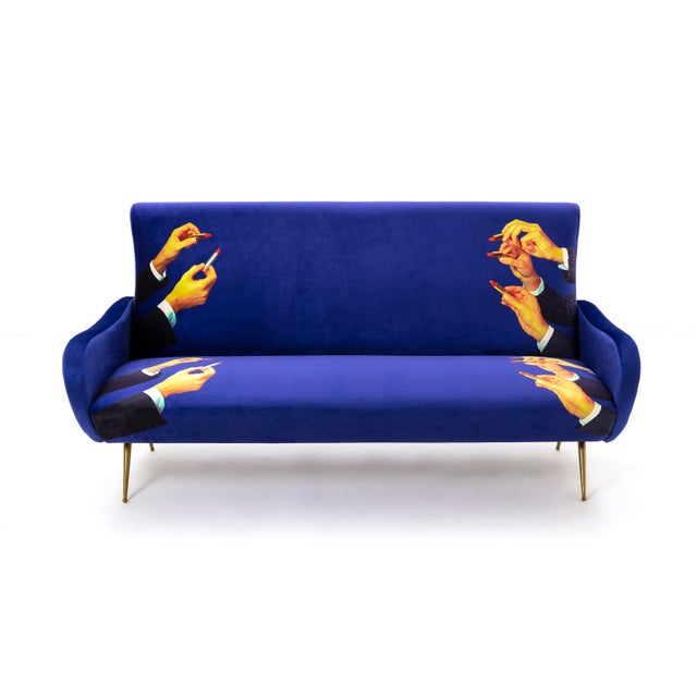 Not Yet Made - Made To Order Seletti, Lipsticks Sofa, Blue, Toiletpaper, 2018 For Sale - Image 5 of 5