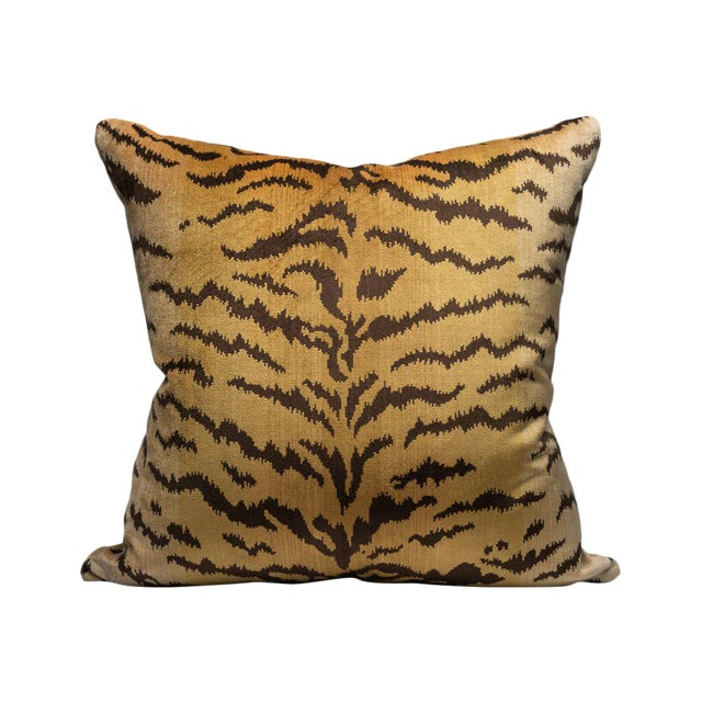 Tigre Pillow, Ivory, Gold, Black For Sale