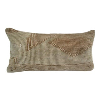 Vintage Turkish Handmade Beige Pillow Cover For Sale