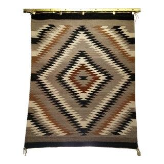 Antique Navajo Eye Dazzler Rug - 3′4″ × 4′3″ For Sale