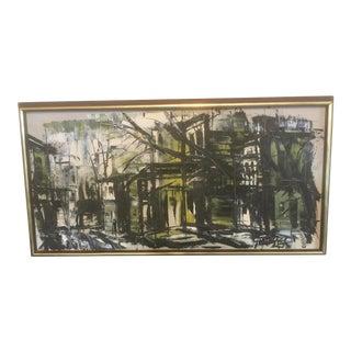1960s Vintage Stanley Sobossek Meshopen Oil Painting For Sale