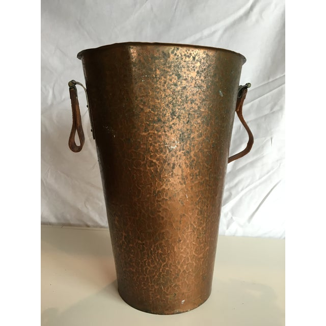 Hammered Copper Trash Can - Image 3 of 3