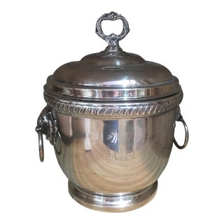 Silverplate Handled Ice Bucket