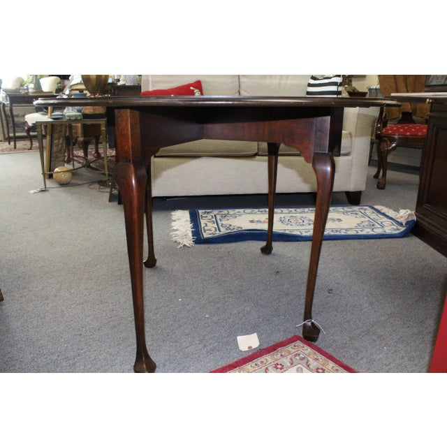 Mid 20th Century 20th Century Traditional Stained Cherry Drop Leaf Table For Sale - Image 5 of 6